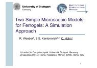 Tunable Magnetic Soft Matter: A Simulational Approach - ESPResSo