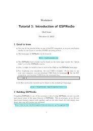 Tutorial 1: Introduction of ESPResSo