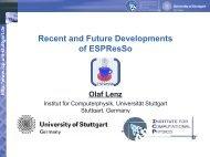 Recent and Future Developments of ESPResSo