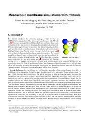 Mesoscopic membrane simulations with mbtools - ESPResSo