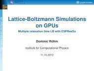 Lattice-Boltzmann Simulations on GPUs - Multiple ... - ESPResSo