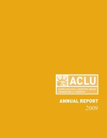 Annual Report 2009.pub - ACLU