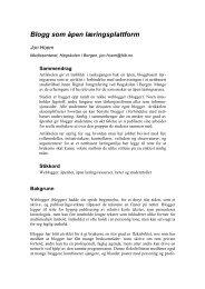 Blogg som åpen læringsplattform - Infodesign.no