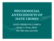 Hate crimes on campus