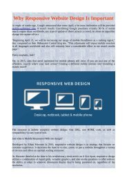 Why Responsive Website Design Is Important