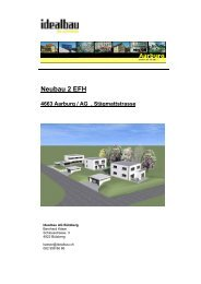 Neubau 2 EFH 4663 Aarburg / AG , Stägmattstrasse