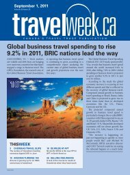 Global business travel spending to rise 9.2% in 2011 ... - Travelweek