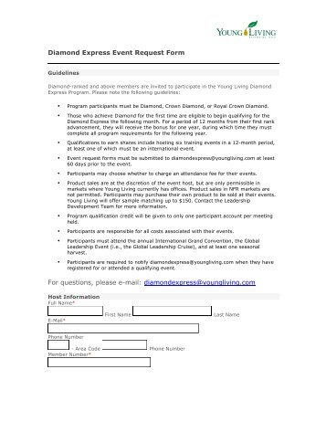 APPLICATION AND AGREEMENT FORM Office: 25 ... - Young Living