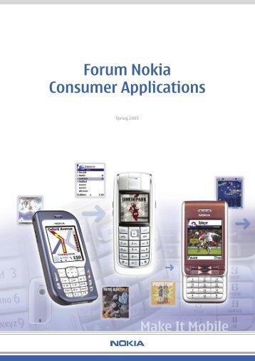 Forum Nokia Consumer Applications