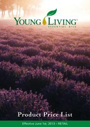 Product Price List - Young Living