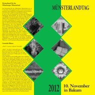 MÜNSTERLANDTAG - Heimatbund für das Oldenburger Münsterland