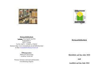 Heimatbibliothek - Heimatbund für das Oldenburger Münsterland