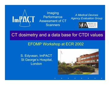 CTDI - ImPACT CT Scanner Evaluation Centre