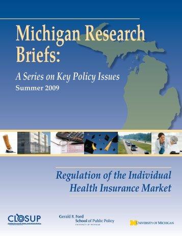 Regulation of the Individual Health Insurance Market