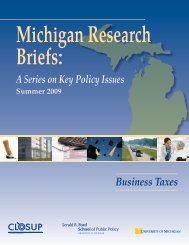 Business Taxes - Center for Local, State, and Urban Policy