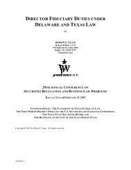 director fiduciary duties under delaware and texas law