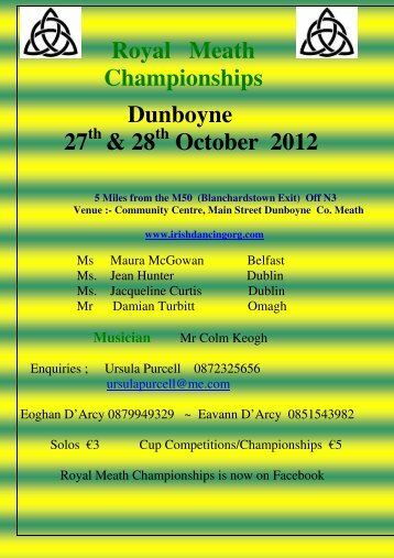 Royal Meath Championships Dunboyne 27 & 28 October 2012