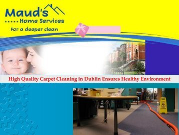 High Quality Carpet Cleaning in Dublin Ensures Healthy Environment