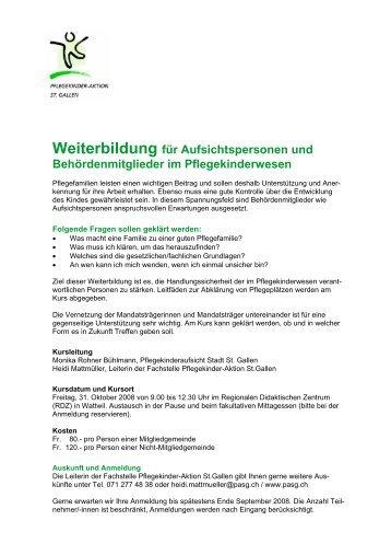 Weiterbildung für Aufsichtspersonen und Behördenmitglieder im ...