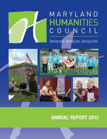 ANNUAL REPORT 2012 - Maryland Humanities Council