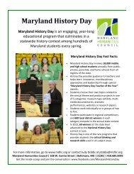 Sample Classroom Timeline 2013-2014 - Maryland Humanities ...