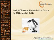 East Europe Bulk/HOD Water Market Size, Trends, Growth, Data Analysis, Report Forecast 2020
