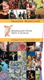 Imagine Maryland: A Strategic Plan for the Arts 2009-2013