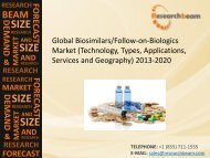 Global Biosimilars/Follow-on-Biologics Market Size, Share, Trends, Company Profiles, Demand, Insights, Analysis, Forecast 2013-2020