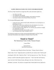 Sample Process Paper and Annotated Bibliography - Maryland ...