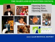 mhc programs - Maryland Humanities Council