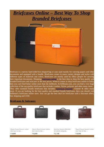 Briefcases Online – Best Way To Shop Branded Briefcases