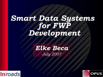 Smart Data Management and Systems in Developing ... - roads.co.nz