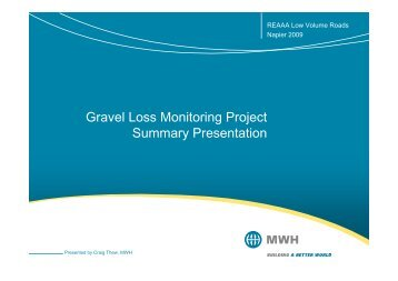 Gravel Loss Monitoring Project Summary Presentation - roads.co.nz