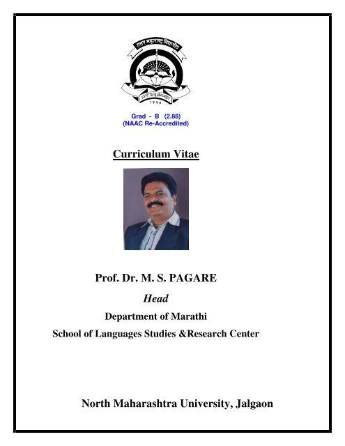 Curriculum Vitae North Maharashtra University