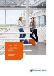 Infobroschüre: Kultur- und Sozialwissenschaften an der FernUniversität