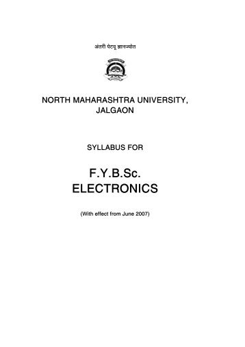 Syllabus for F - North Maharashtra University
