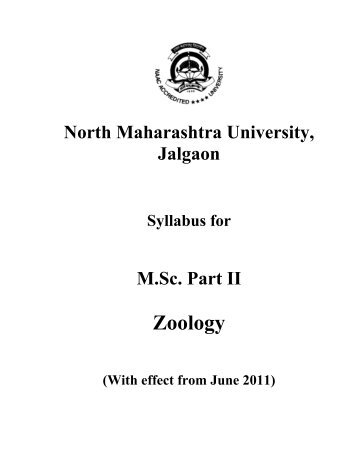 Zoology - North Maharashtra University