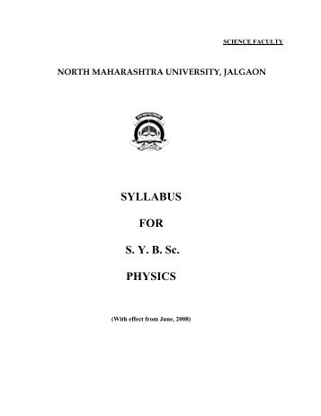 SYLLABUS FOR S. Y. B. Sc. PHYSICS - North Maharashtra University