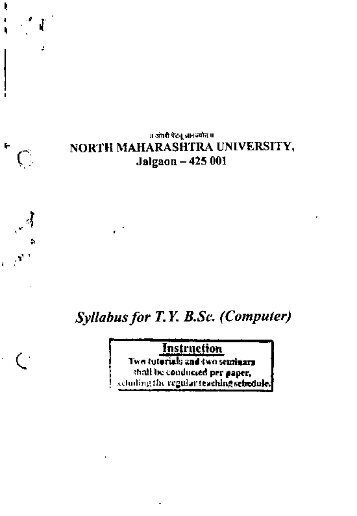 Syllabus for TYBSe. (Computer) - North Maharashtra University
