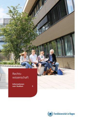 Infobroschüre: Rechtswissenschaft an der FernUniversität