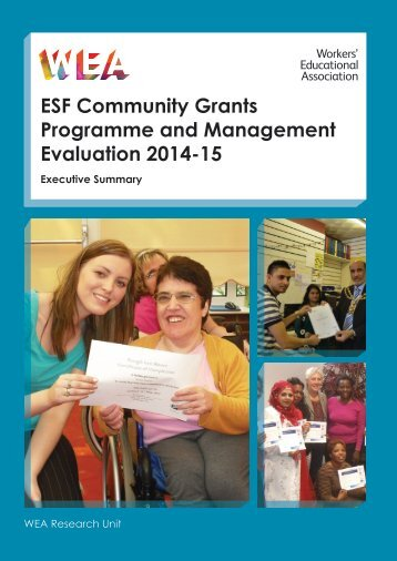 ESF Community Grants Programme and Management Evaluation 2014-15 Exec Summary FINAL
