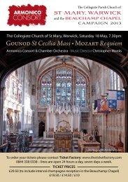 Gounod St Cecilia Mass • Mozart Requiem - St Mary's Warwick