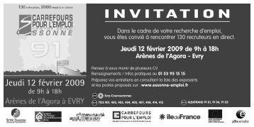 Jeudi 12 février 2009 de 9h  à 18h Arènes de l ... - Carrefour Emploi