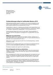 Botilbuddet Albatros - Aalborg Kommune
