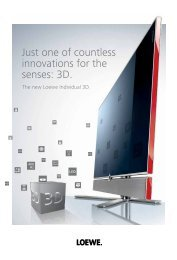 Just one of countless innovations for the senses: 3D. - Loewe