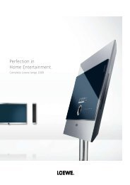 Perfection in Home Entertainment. - Loewe