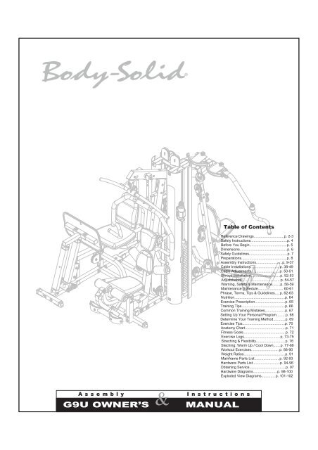 G9U OWNER'S MANUAL - Fitness Direct