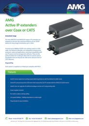 AMG1000 series Active IP Extenders - AMG Systems