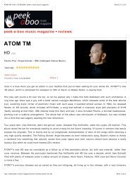 peek-a-boo music magazine - atom-tm.com