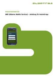 AMS (Albatros Mobile Services) – Anleitung für Android-App